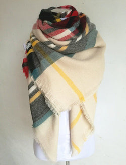 Scarfs/Wraps - Designer Plaid Scarf Unisex Acrylic Basic Big Size Wraps