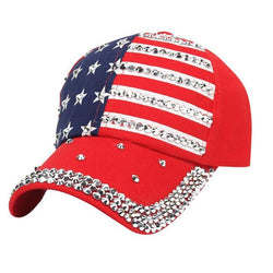 Scarfs/Wraps - Fashion Rhinestone Snapback/Hip Hop - American Flag Stars/Stripes Baseball Caps (Women/Men)