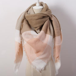 Scarfs/Wraps - Luxury Soft Cashmere Blanket Warm In Winter Fashion Plaid Square Shawls