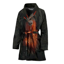 Tibetan Mastiff Dog Print Women's Bath Robe-Free Shipping