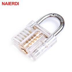 Tools - Transparent Visible Pick Cutaway Mini Practice View Padlock Lock Training Skill For Locksmith