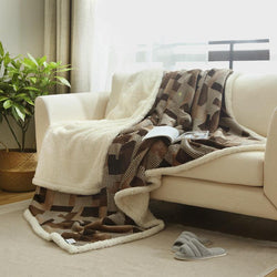 Warm Soft Fleece Blankets Double Layer Thick Plush Throw -  1 PC