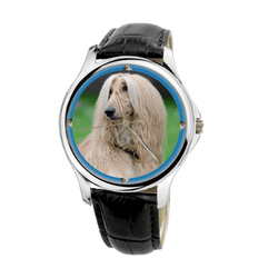 Watch - Afghan Hound Fashion Unisex Wrist Watch - Free Shipping