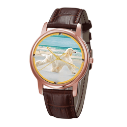 Watch - Afghan Hound Unisex Rose Gold Wrist Watch - Free Shipping