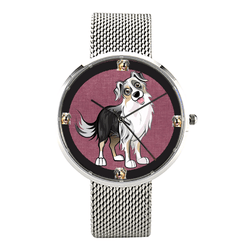 Watch - Australian Shepherd Print Unisex Luxury Business Wrist Watch - Free Shipping