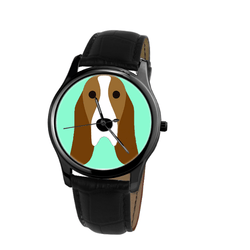 Watch - Basset Hound Unisex Wrist Watch - Free Shipping