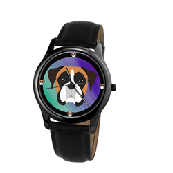 Watch - Boxer Dog Print Unisex Fashion Wrist Watch- Free Shipping