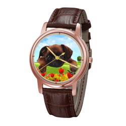 Watch - Brussels Griffon Unisex Rose Gold Wrist Watch - Free Shipping