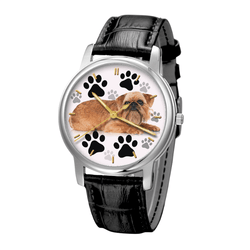 Watch - Brussels Griffon Waterproof Unisex Wrist Watch - Free Shipping