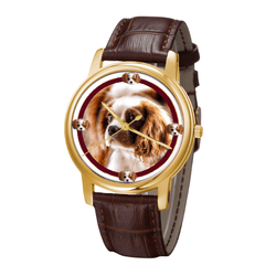 Watch - Cavalier King Charles Spaniel Classic Wrist Watch- Free Shipping