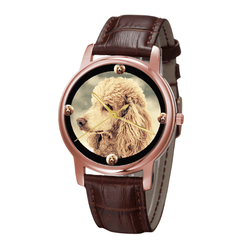 Watch - Poodle Unisex Rose Gold Wrist Watch- Free Shipping