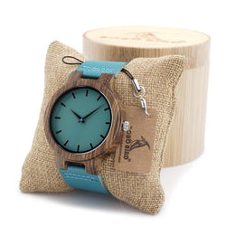 Watches (m) - Bamboo Casual Wood Watch Men & Women Quartz Analog In Gift Box