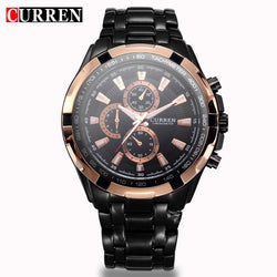 Watches (m) - CURREN Military Men Watches Stainless Steel Quartz Wristwatch (without Regulator Tool)