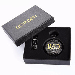 Watches (m) - Father's Day Gifts Vintage THE GREATEST Dad & Grandpa Pocket Watches With FOB Waist Chain Gift Set