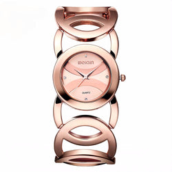 Watches (w) - WEIQIN Rose Gold Stainless Steel Fashion Watch