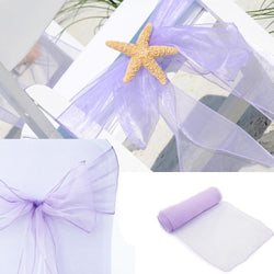 "Wedding - 1 Pcs 7"" X 108"" Chair Cover Sash Wedding Party Decorations Bow Wedding Decor"