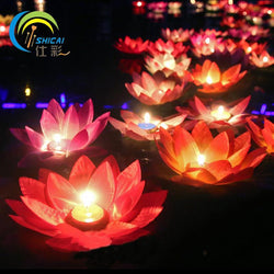 Wedding - Romantic Valentine's Day Lotus Wishing Lamp Votive Candle Water Lantern Wedding Decoration