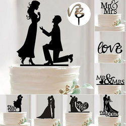 Wedding - Wedding Cake Decoration Bride And Groom Topper