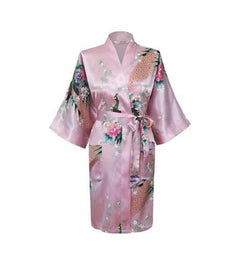 Women Compliments - Woman Satin Kimono Bathrobe - Assorted Designs (3XL)