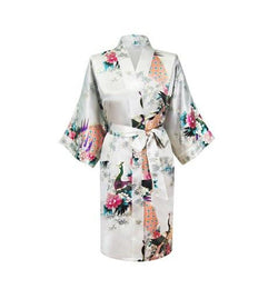 Women Compliments - Woman Satin Kimono Bathrobe - Assorted Designs (XL)