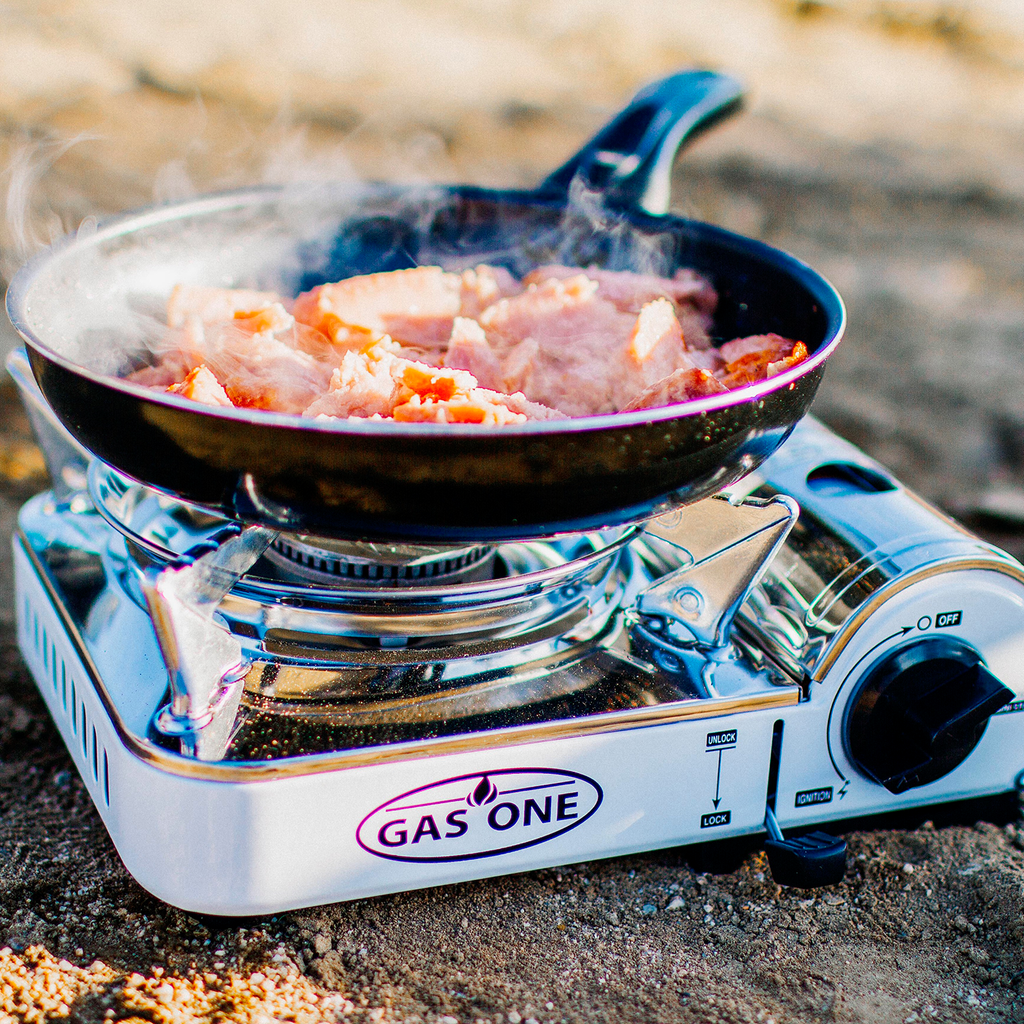 7,650 BTU Portable Butane Mini Camp Stove (#GS-800)
