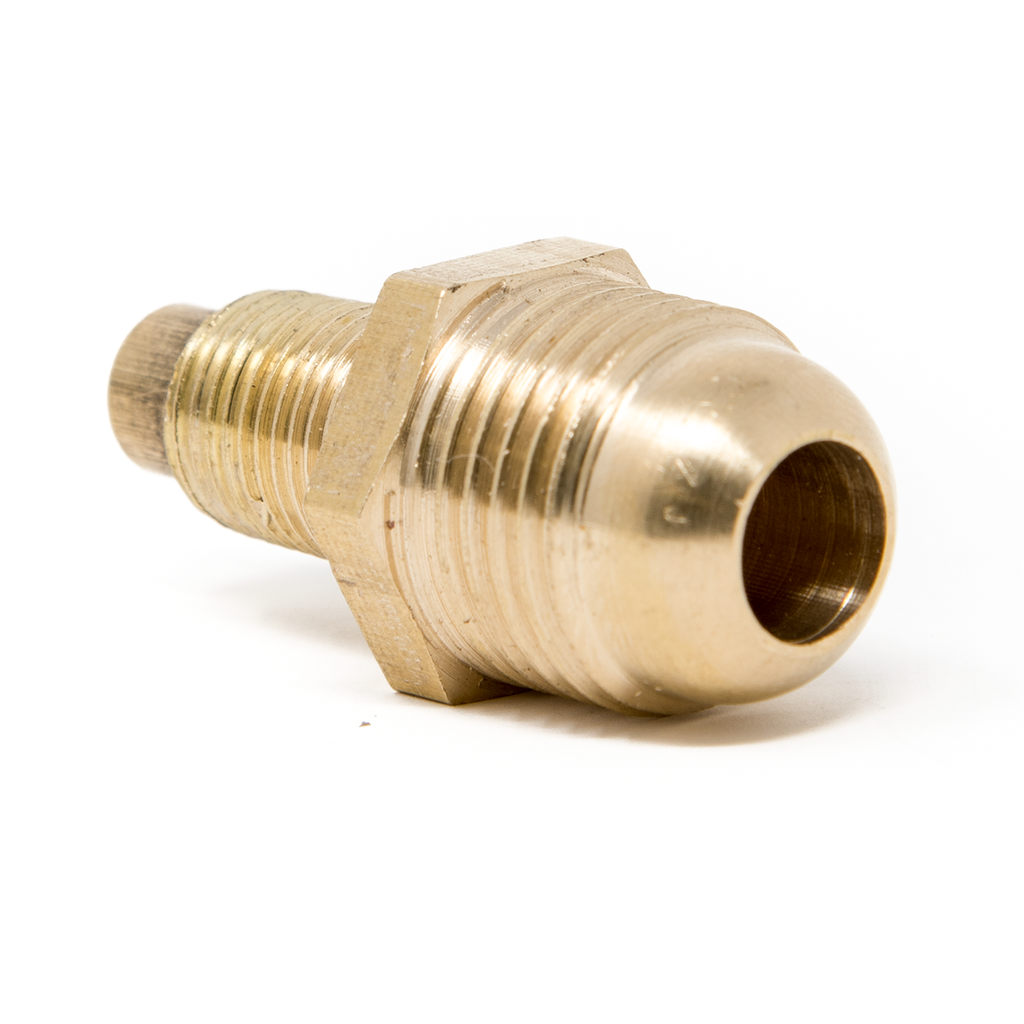 "Propane Orifice Connector Brass Tube Fitting 3/8"" Flare x 1/8"" MNPT"