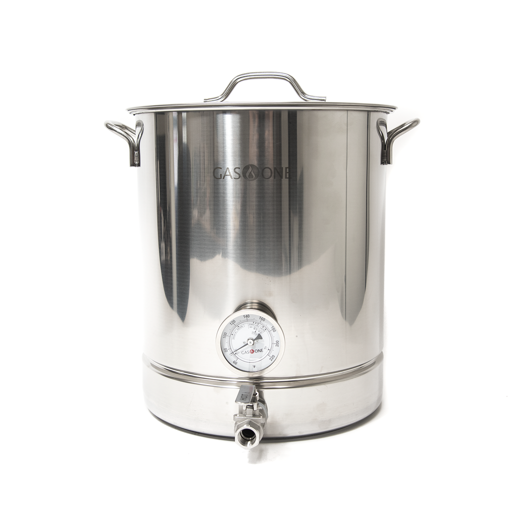 Stainless Steel Brew Kettle 6 PC Set 40 QT / 10 Gal