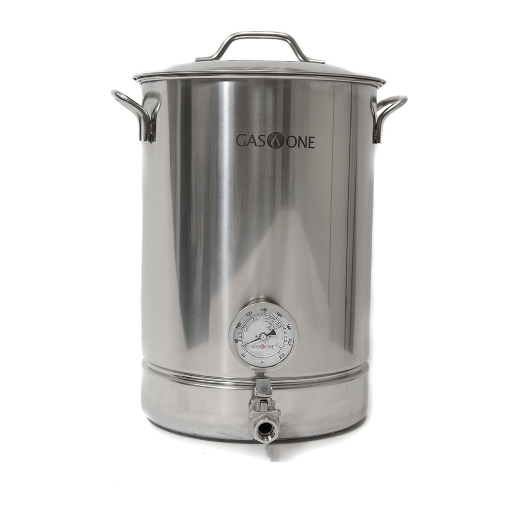 Stainless Steel Brew Kettle 6 PC Set 32 QT / 8 Gal
