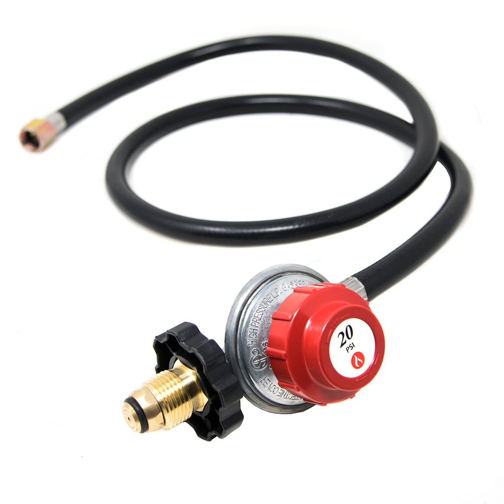 0-20 PSI High Pressure Regulator w/Hose, Adjustable Dial, & P.O.L. Fitting