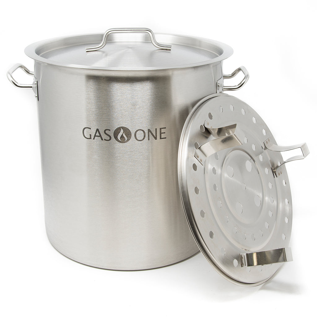 Stainless Steel Stockpot w/Steamer 40 QT (#ST-40)