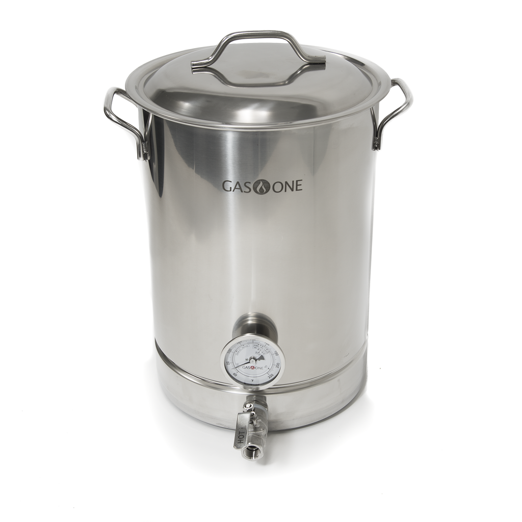 Stainless Steel Brew Kettle 4 PC Set 32 QT / 8 Gal