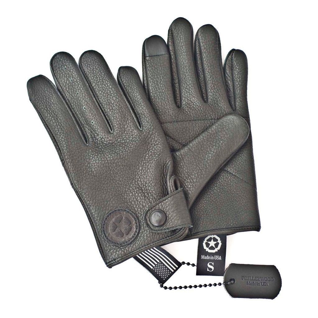 William Leather Gloves, Black