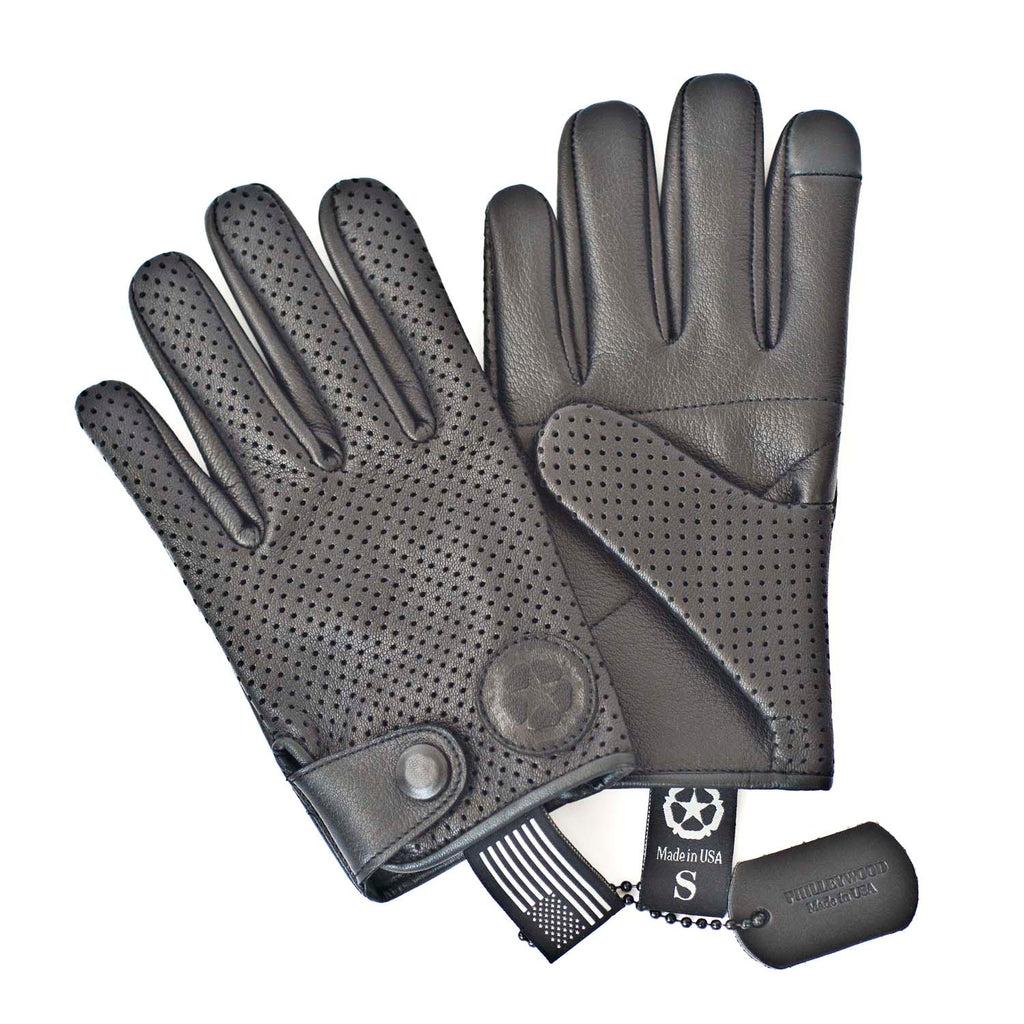 Charlie Leather Gloves, Black
