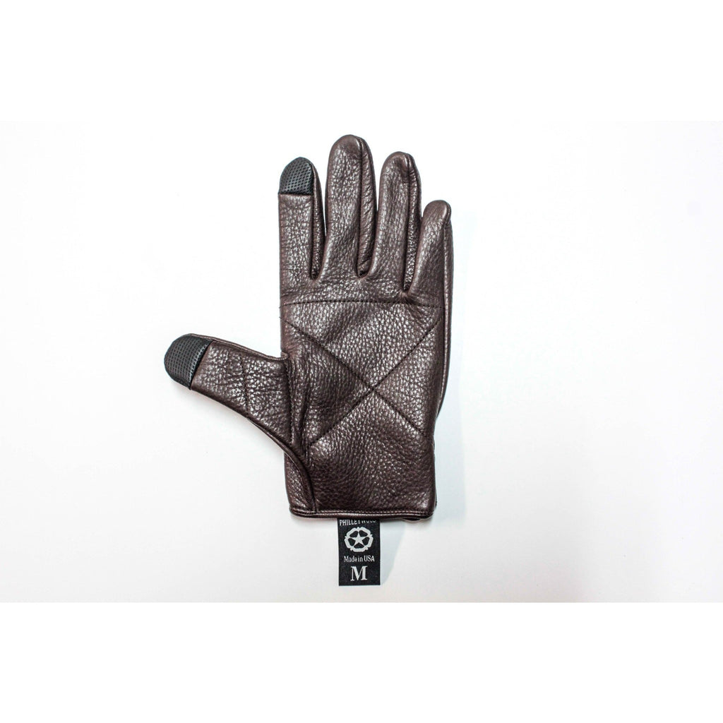 Jarvis Leather Gloves, Chocolate