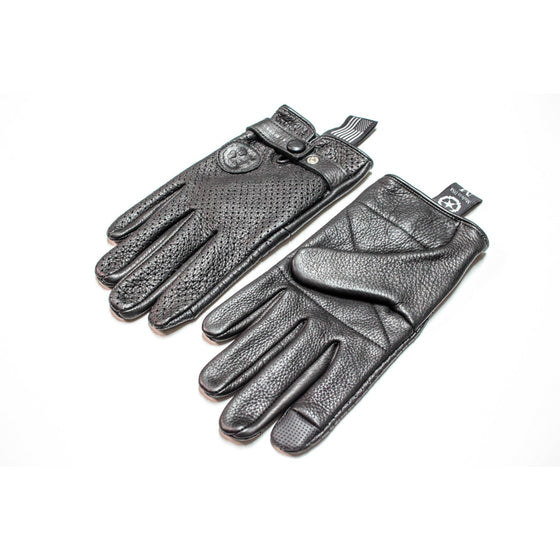 Siggy Leather Gloves, Black