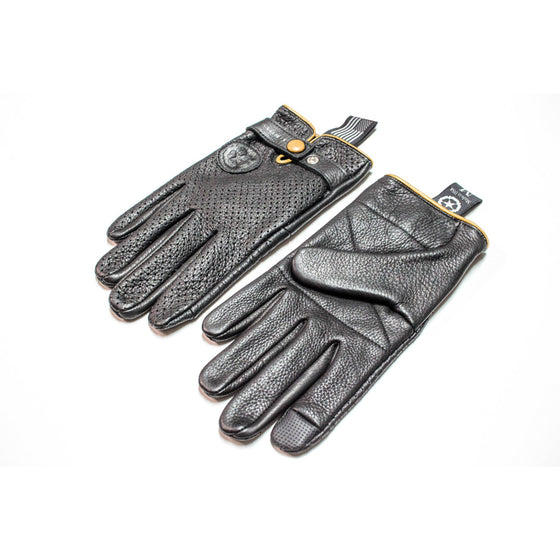 Siggy Leather Gloves, Yellow