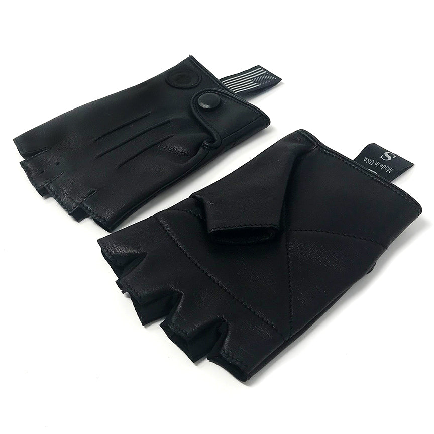 Rodney Leather Gloves, Black