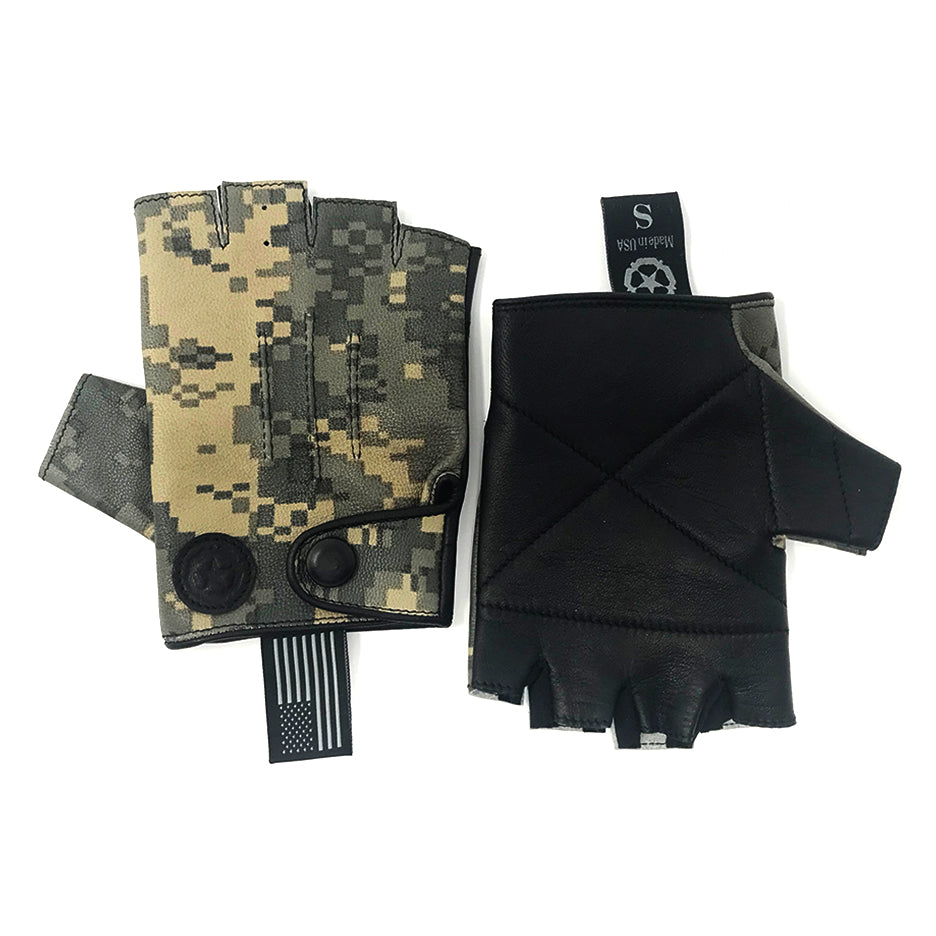 Rodney Leather Gloves, Olive Pixel