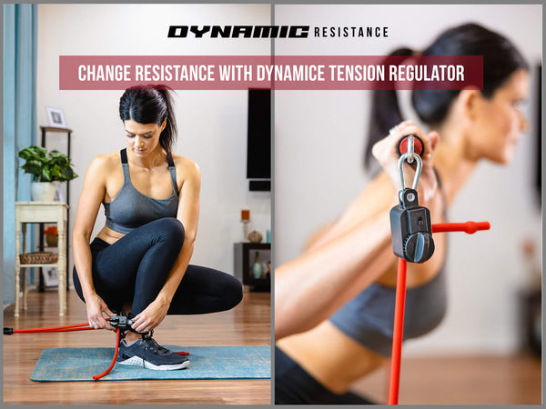 resistance band home gym system