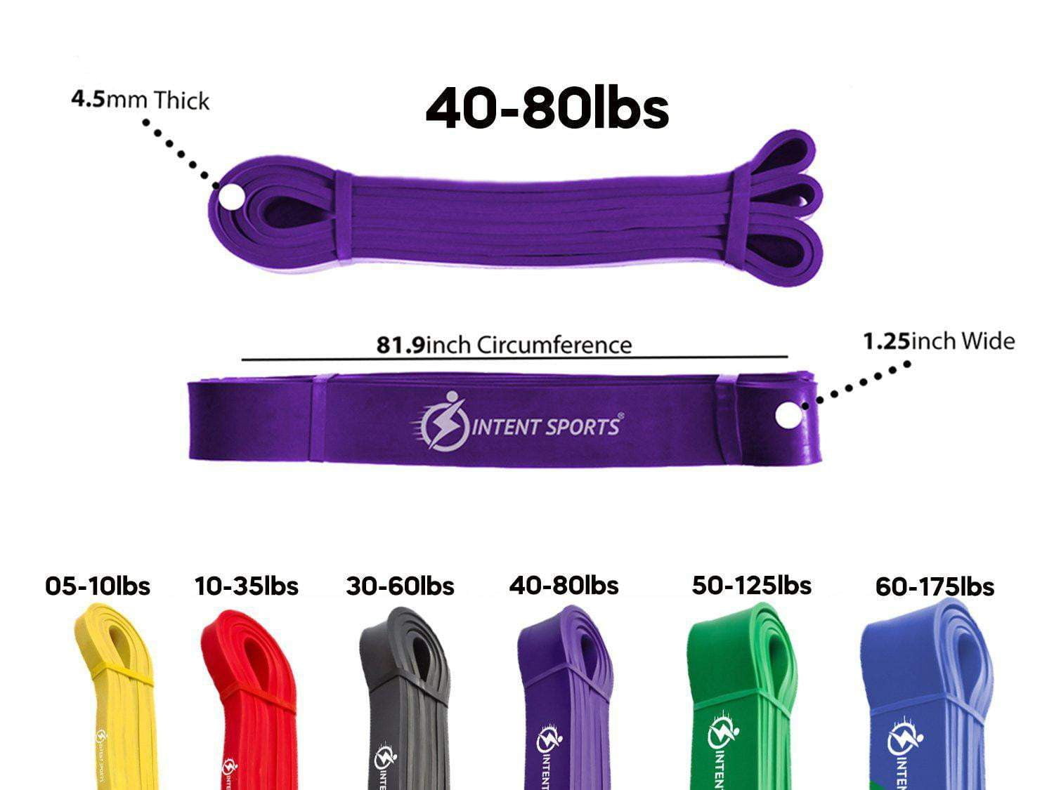 INTENT SPORTS Pull Up Assist Bands - Single/Set