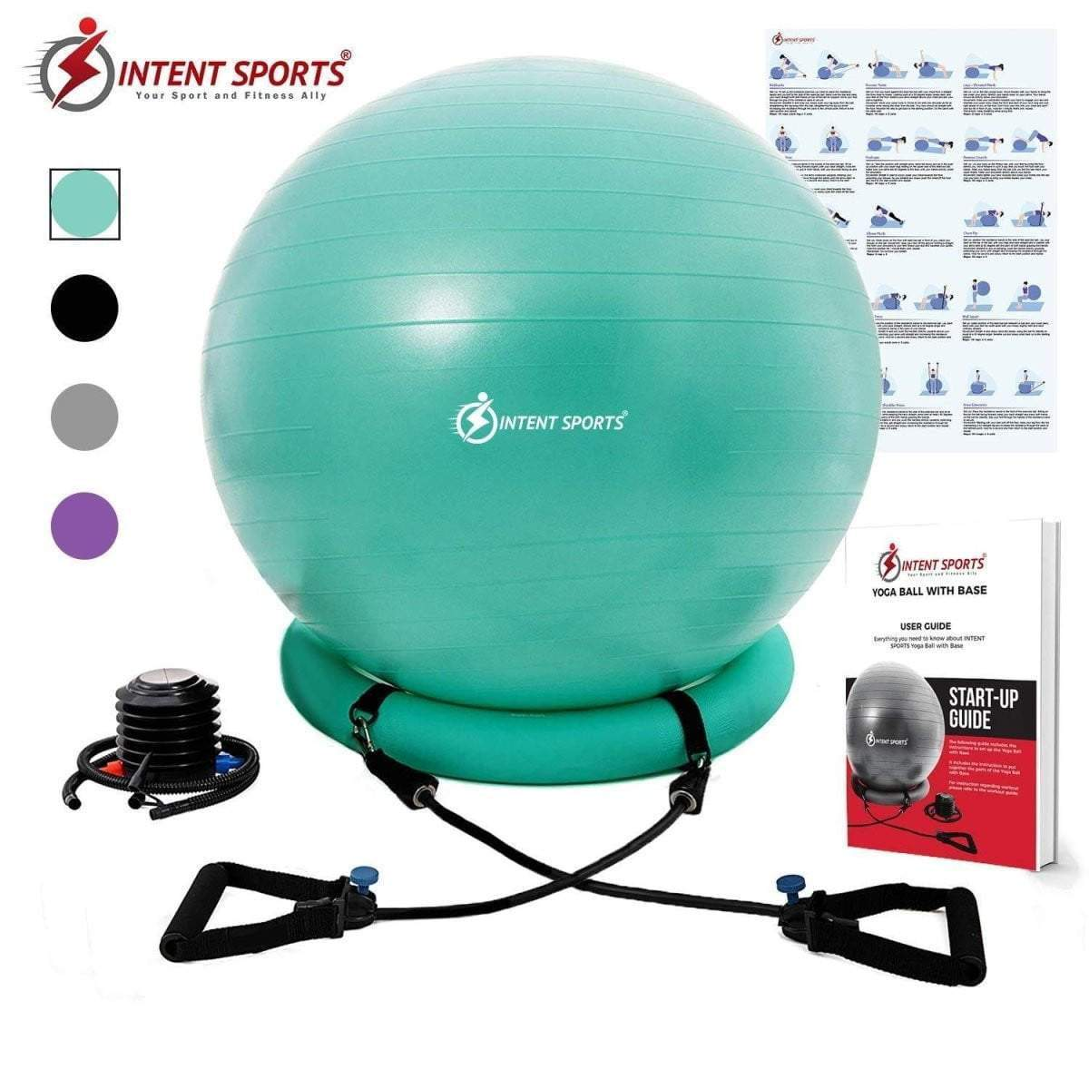exercise balls with handle