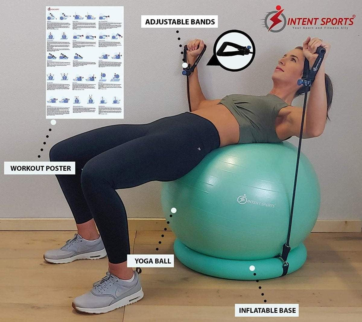 Yoga Exercise Ball Gym - Intent Sports