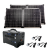 Silver Kit—Inergy Flex 1500 Power Station with 2 Ascent 100 Folding Panels (20% PRE-SALE DEPOSIT)