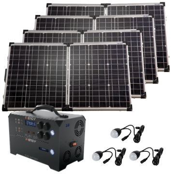 Gold Kit—Inergy Flex DC Power Station with 4 Ascent 100 Folding Panels (20% PRE-SALE DEPOSIT)