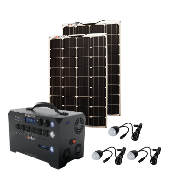 Silver Kit—Inergy Flex 1500 Power Station with 2 Linx Solar Panels (20% PRE-SALE DEPOSIT)