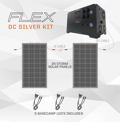 Deposit For Silver Kit—Inergy Flex DC Power Station with 2 Storm Panels