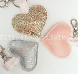 Handmade Heart Key Ring Charms