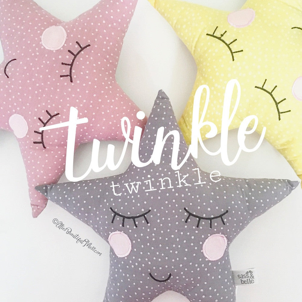 Spotty Twinkle Star Cushions