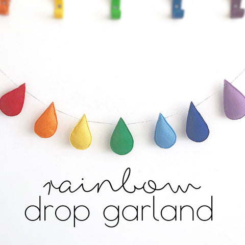 Rainbow Drop Garland