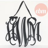 Triple Monogrammed Initials Medium 30cm